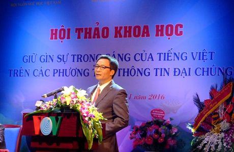 Giu gin su trong sang cua Tieng Viet tren cac phuong tien thong tin dai chung - Anh 1