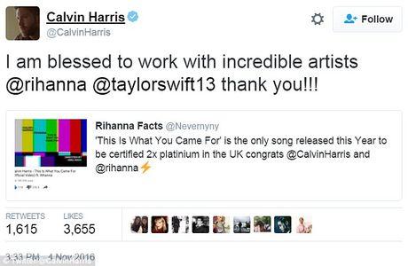 Calvin Harris bat ngo khen Taylor Swift sau chia tay - Anh 1