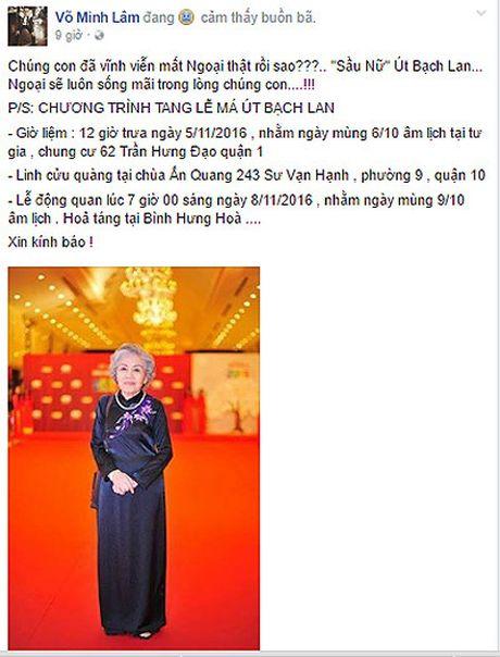 Hoai Linh va dong nghiep thuong tiec su ra di cua nghe si Ut Bach Lan - Anh 3