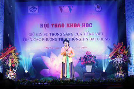 Hinh anh: VOV to chuc hoi thao ve Giu gin su trong sang cua tieng Viet - Anh 2