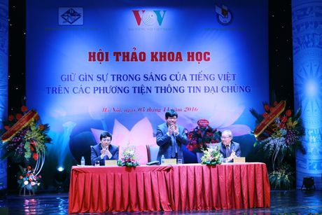 Hinh anh: VOV to chuc hoi thao ve Giu gin su trong sang cua tieng Viet - Anh 9