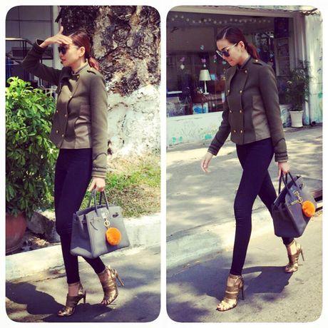 Cach ket hop tui xach mua dong sanh dieu cua Thanh Hang - Anh 4