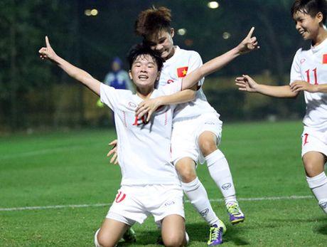 Tuyen nu U.19 Viet Nam lot vao vong chung ket U.19 chau A - Anh 3