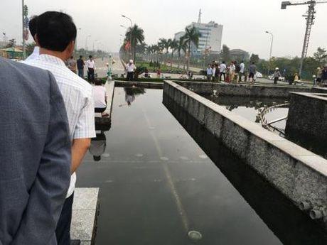 Ha Tinh: Phat hien nguoi dan ong tu vong duoi dai phun nuoc - Anh 1