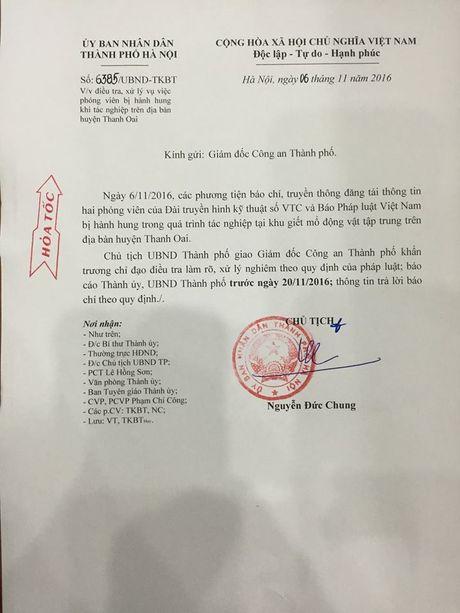 Chu tich Ha Noi chi dao dieu tra vu 2 phong vien bi hanh hung - Anh 1