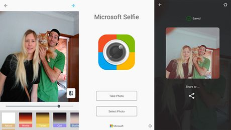 Microsoft Selfie cap ben cho ung dung Google Android - Anh 1
