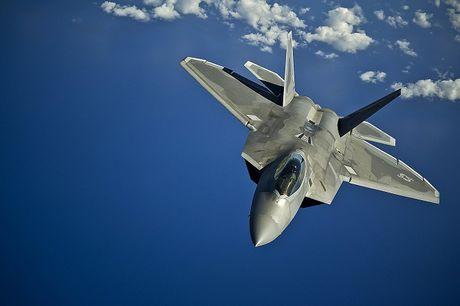 Thot tim voi man trinh dien cua may bay F-22 Raptor - Anh 1