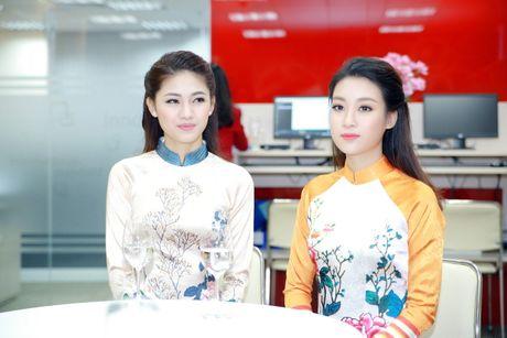 My Linh, Thanh Tu dien ao dai cua hoa hau Ngoc Han - Anh 8