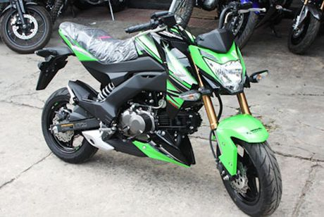 Kawasaki Z125 'doi thu' Honda MSX tai Viet Nam - Anh 1