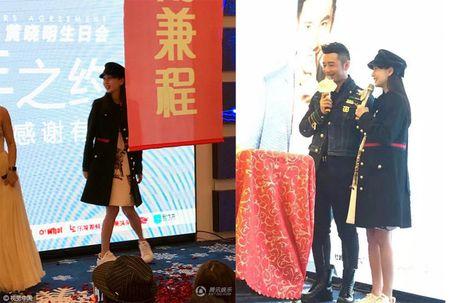 Angelababy om bung bau du sinh nhat som cua Huynh Hieu Minh - Anh 5