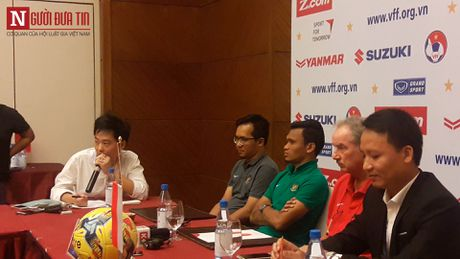 HLV Huu Thang up mo chuyen su dung Tuan Anh truoc Indonesia - Anh 1
