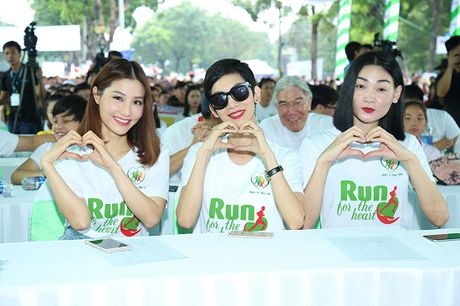 Ngoc Thanh Tam cung dan sao Viet xuong duong 'Chay vi trai tim' - Anh 8