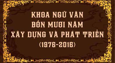 Khoa Ngu van truong Dai hoc Su pham TP.HCM ky niem 40 nam thanh lap - Anh 1