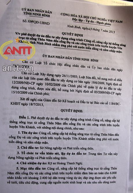 Ninh Binh: Nguy co du an trong diem 'dut ganh' – 8 ti 'boc hoi' - Anh 4