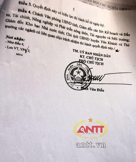 Ninh Binh: Nguy co du an trong diem 'dut ganh' – 8 ti 'boc hoi' - Anh 5