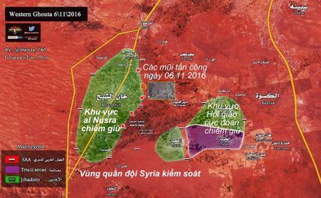 Quan doi Syria thit chat thi tran phien quan o Tay Ghouta - Anh 1