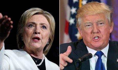 Clinton noi rong khoang cach voi Trump trong tham do moi nhat - Anh 1