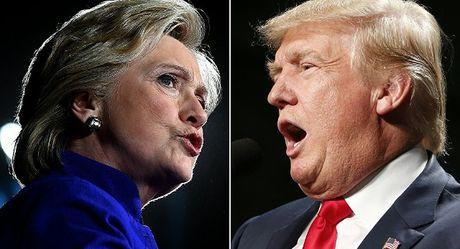 Truyen thong My dua ra cac cuoc tham do mau thuan ve Trump va Clinton - Anh 1