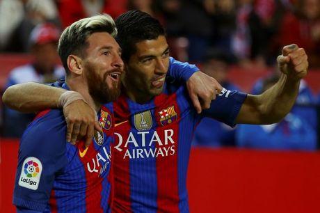 Messi giup Barcelona tiep tuc bam duoi Real - Anh 1