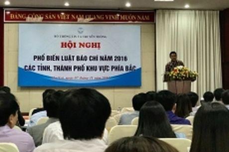 Hoi nghi trien khai Luat Bao chi 2016 khu vuc cac tinh phia Bac - Anh 1