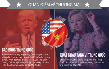 Khac nhau nhu nuoc voi lua giua Trump va Clinton - Anh 7