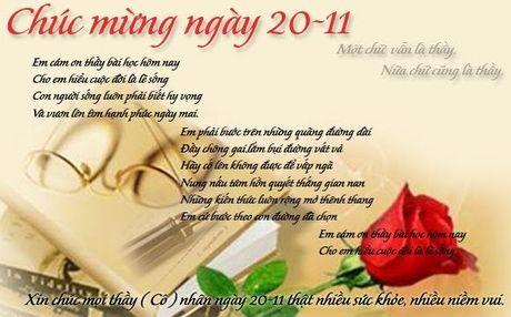 Ngay Nha giao Viet Nam 20/11: Nhung bai tho hay va y nghia tang thay co giao - Anh 2