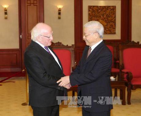 Tong Bi thu Nguyen Phu Trong tiep Tong thong Ireland Michael D. Higgins - Anh 1