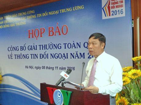 Cong bo Giai thuong toan quoc ve thong tin doi ngoai nam 2016 - Anh 2