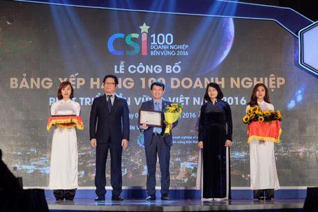 Bao Viet ghi ten trong Top 10 Doanh nghiep Ben vung xuat sac nhat Viet Nam 2016 - Anh 1