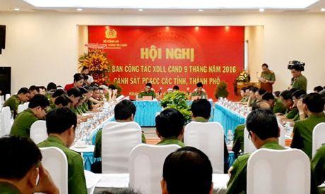 Giao ban cong tac xay dung luc luong Canh sat PCCC Cum thi dua 10, 11 - Anh 1