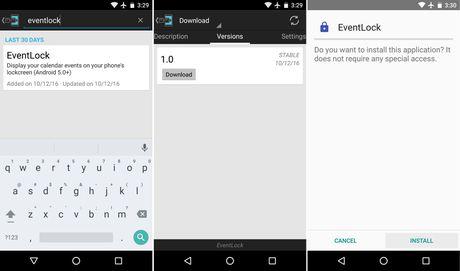 Mang tinh nang Today View tren iPhone qua Android - Anh 2