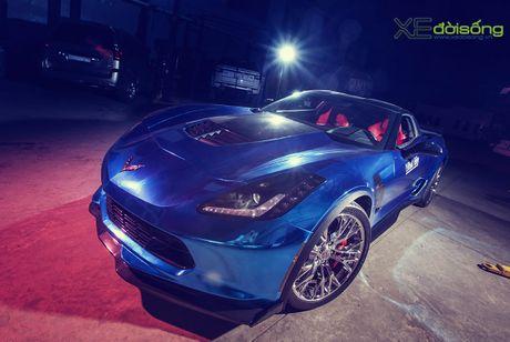 Ngam sieu xe Corvette Z06 dau tien Viet Nam 'khoac ao moi' - Anh 3