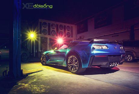 Ngam sieu xe Corvette Z06 dau tien Viet Nam 'khoac ao moi' - Anh 4