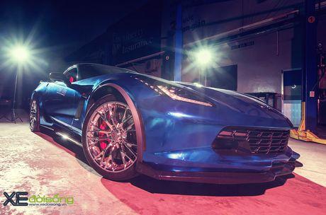 Ngam sieu xe Corvette Z06 dau tien Viet Nam 'khoac ao moi' - Anh 5