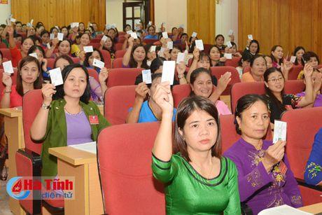 Dai hoi dai bieu Phu nu Ha Tinh lan thu XV thanh cong tot dep - Anh 3