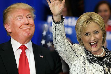 Ba Hillary Clinton dan diem ong Donald Trump truoc gio G - Anh 1