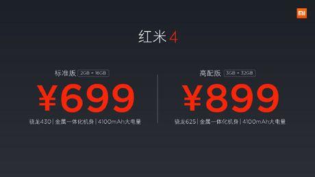 Xiaomi Redmi 4/4A moi: Van tay, pin 4.100mAh, gia duoi 3 trieu dong - Anh 4