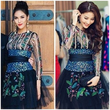 Hoa hau My Linh 'mac chung do' voi A hau Thuy Van - Anh 11
