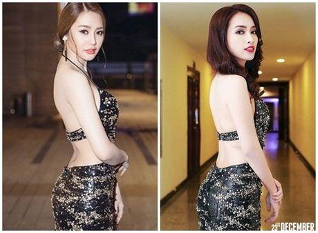 Hoa hau My Linh 'mac chung do' voi A hau Thuy Van - Anh 7