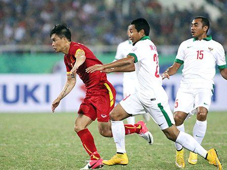 TRUC TIEP Viet Nam 0-0 Indonesia: Xuan Truong,Trong Hoang, Cong Vinh, Van Quyet da chinh (Hiep 1) - Anh 4
