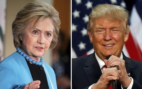 Bau cu Tong thong My 2016: Hillary van vuot Trump truoc gio G - Anh 1