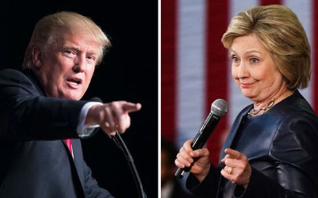 Dieu gi se xay ra neu ong Trump va ba Clinton hoa nhau? - Anh 1