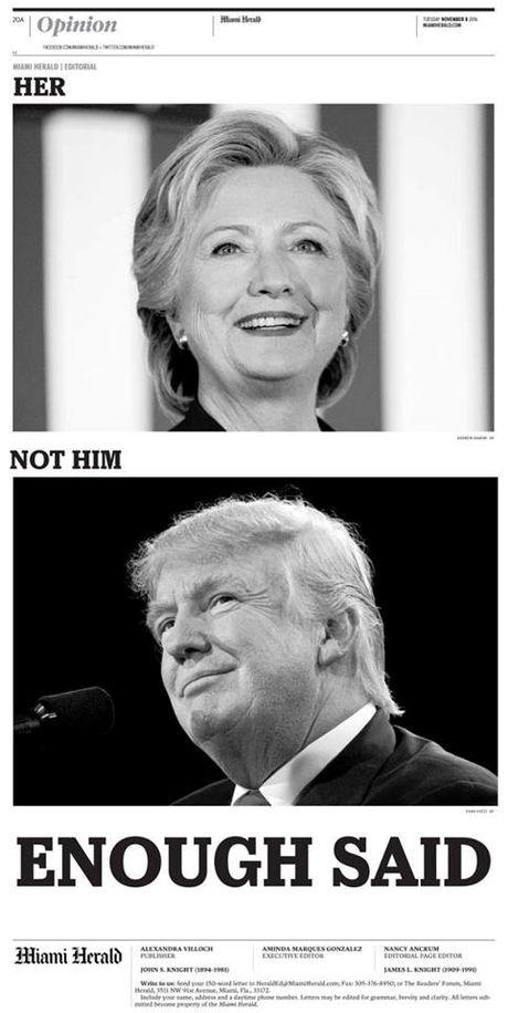 Ba Hillary Clinton va ong Donald Trum da bo phieu bau Tong thong My - Anh 4