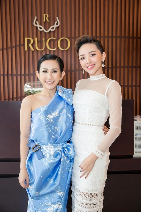 Trai xinh, gai dep cua showbiz Viet den chuc mung 'ba chu' Tram Nguyen - Anh 3