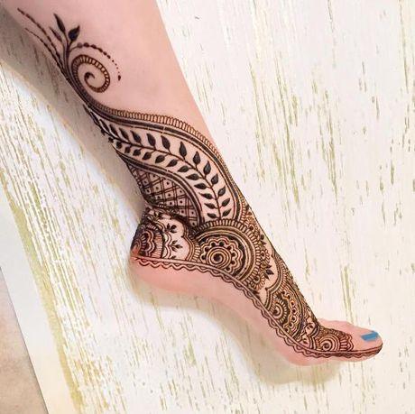 Kho cuong voi nhung hinh xam henna truyen thong - Anh 17
