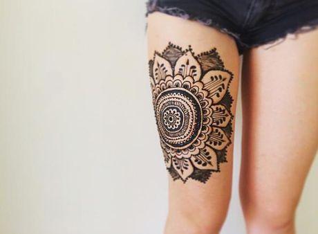 Kho cuong voi nhung hinh xam henna truyen thong - Anh 24