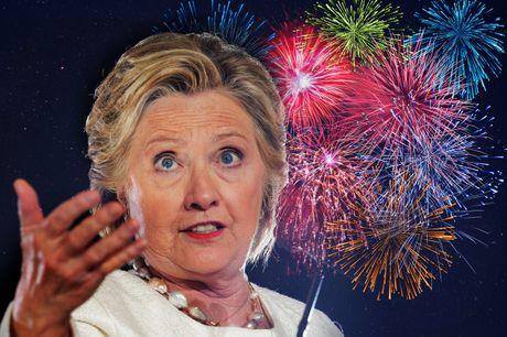 Vi sao Hillary Clinton huy ban phao hoa mung chien thang? - Anh 1