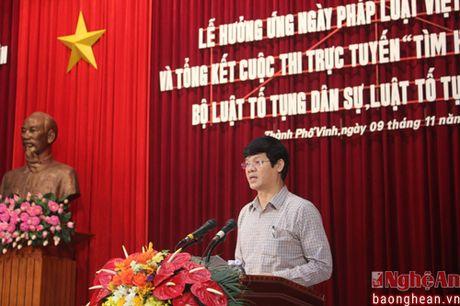 Phat dong le huong ung Ngay Phap luat Viet Nam nam 2016 - Anh 1