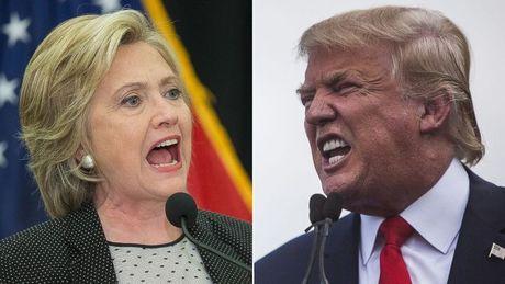 Donald Trump the hien suc manh dang kinh ngac, vuon len ap dao Hillary Clinton - Anh 1