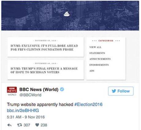 Lo hong web cua Donald Trump bi lay lam tro dua - Anh 3